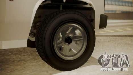 GTA 5 Declasse Rancher XL Police IVF para GTA San Andreas traseira esquerda vista