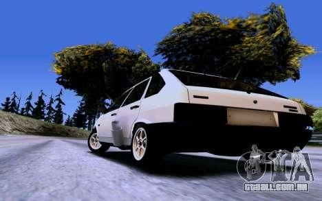 VAZ 2109 Turbo para GTA San Andreas vista traseira
