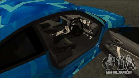 Nissan Silvia S15 Drift Blue Star para GTA San Andreas traseira esquerda vista