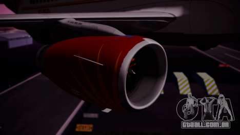 Airbus A319-100 Air India para GTA San Andreas vista direita