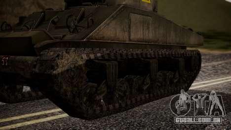 Sherman MK VC Firefly para GTA San Andreas traseira esquerda vista