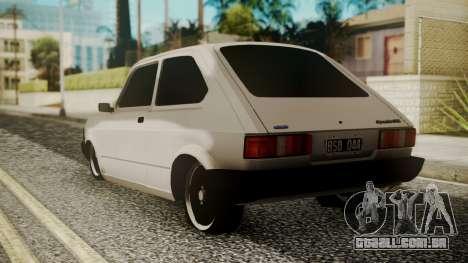 Fiat 147 Spazio-TR para GTA San Andreas esquerda vista