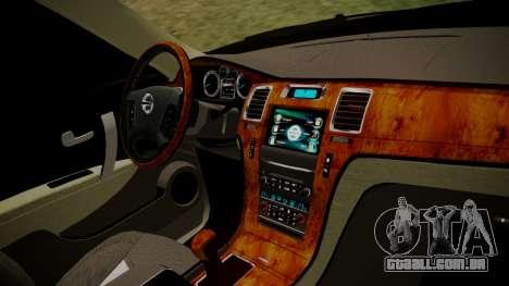 Nissan Patrol IMPUL 2014 para GTA San Andreas vista direita