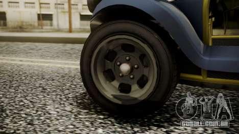 GTA 5 BF Bifta para GTA San Andreas traseira esquerda vista