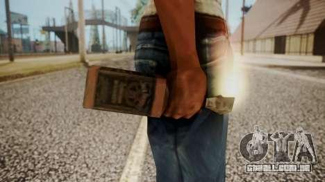 Molotov Cocktail from RE Outbreak Files para GTA San Andreas terceira tela