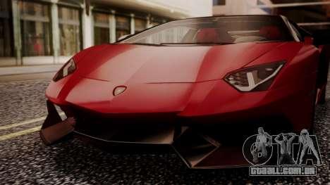 Lamborghini Aventador MV.1 para GTA San Andreas vista interior