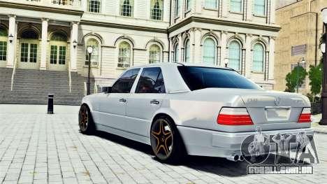 Mercedes-Benz E500 W124 para GTA 4 esquerda vista