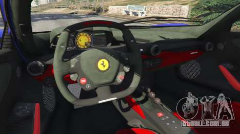 GTA 5 Ferrari LaFerrari 2013 v2.5 traseira direita vista lateral