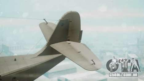 Grumman G-21 Goose Grey para GTA San Andreas traseira esquerda vista