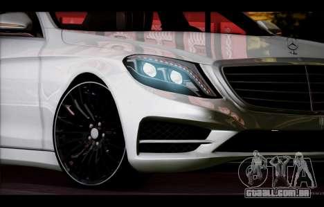 Mercedes Benz S63 W222 Itens De Qualidade para GTA San Andreas vista superior