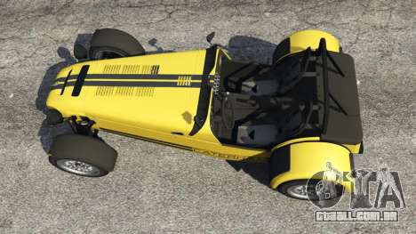 GTA 5 Caterham Super Seven 620R v1.5 [yellow] voltar vista
