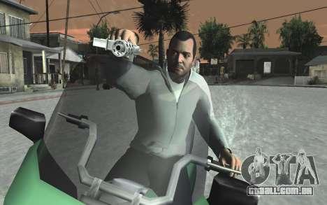 GTA 5 Tec-9 para GTA San Andreas décimo tela
