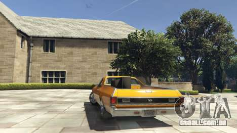 GTA 5 Chevrolet El Camino SS 1970 traseira vista lateral esquerda