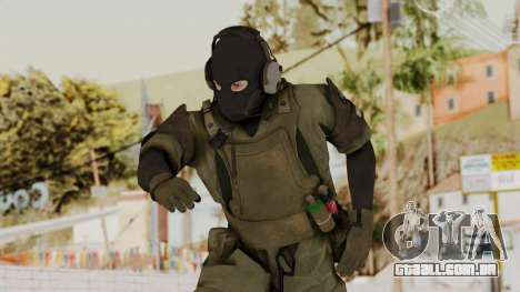 MGSV Ground Zero MSF Soldier para GTA San Andreas