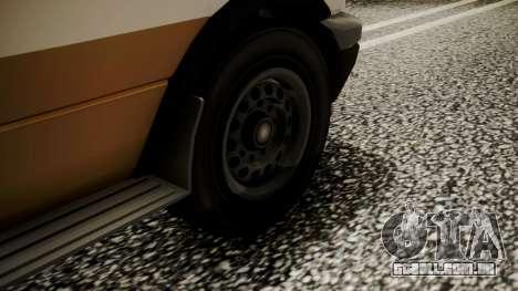 GTA 5 Brute Ambulance para GTA San Andreas traseira esquerda vista