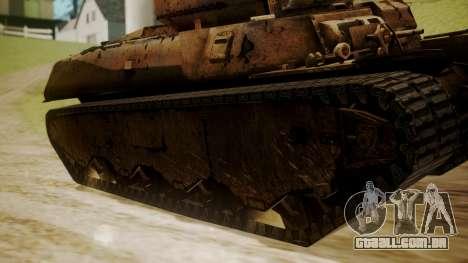 Heavy Tank M6 from WoT para GTA San Andreas traseira esquerda vista