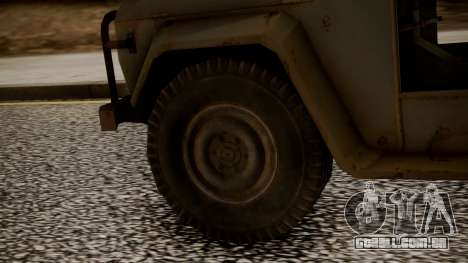 UAZ MGS5 TPP para GTA San Andreas traseira esquerda vista