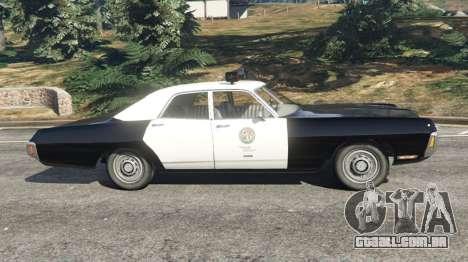 GTA 5 Dodge Polara 1971 Police v4.0 vista lateral esquerda
