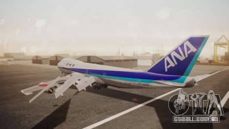 Boeing 747SR All Nippon Airways (NC) para GTA San Andreas traseira esquerda vista