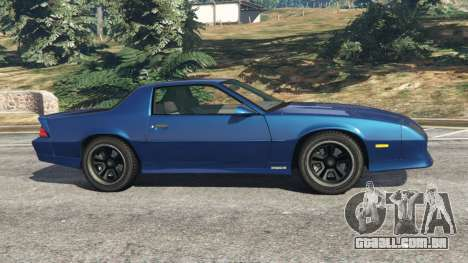 GTA 5 Chevrolet Camaro IROC-Z [Beta 2] vista lateral esquerda