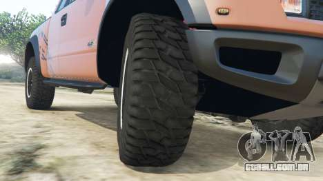 GTA 5 Ford F-150 SVT Raptor 2012 v2.0 vista lateral direita