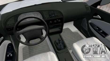 Daewoo Nubira II Sedan S PL 2000 para GTA 4 vista de volta