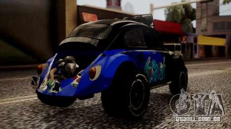 Volkswagen Beetle Vocho-Buggy para GTA San Andreas esquerda vista