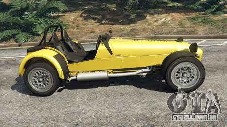 GTA 5 Caterham Super Seven 620R v1.5 [yellow] vista lateral esquerda