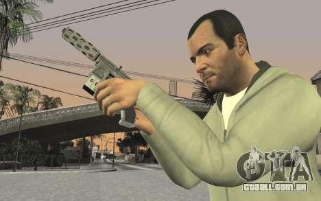 GTA 5 Tec-9 para GTA San Andreas oitavo tela