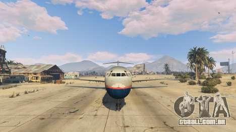 GTA 5 McDonnell Douglas MD-80 quinta imagem de tela