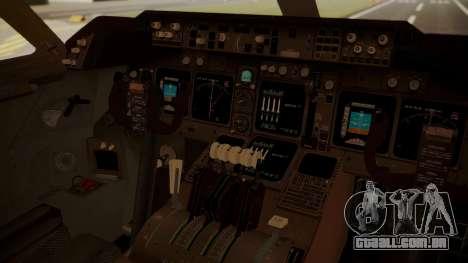 Boeing 747-8I Air India para GTA San Andreas vista traseira