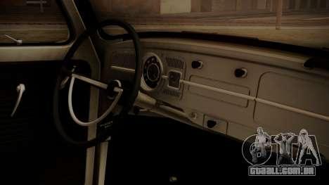 Volkswagen Beetle Aircooled para GTA San Andreas vista direita