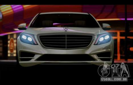 Mercedes Benz S63 W222 Itens De Qualidade para GTA San Andreas vista interior