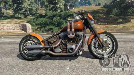 GTA 5 Harley-Davidson Fat Boy Lo Racing Bobber v1.2 vista lateral esquerda