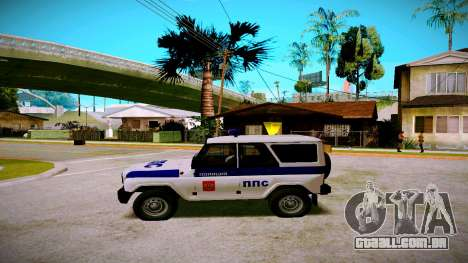 UAZ-caçador de PPP Serviço para GTA San Andreas esquerda vista