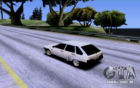VAZ 2109 Turbo para GTA San Andreas vista inferior