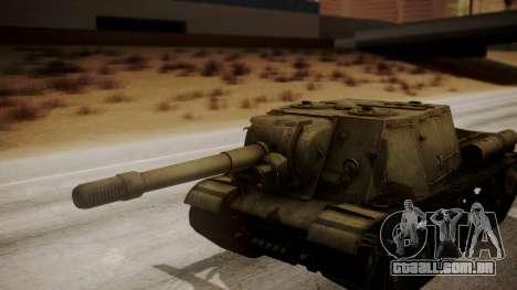 ISU-152 from World of Tanks para GTA San Andreas vista traseira
