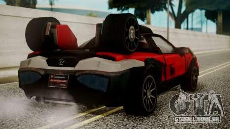 Tridoron-3000 para GTA San Andreas esquerda vista