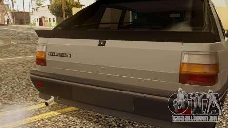 Renault 11 Perfil Bajo para GTA San Andreas vista traseira