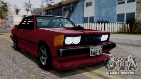 Sentinel XL from Vice City Stories para GTA San Andreas vista traseira