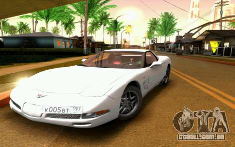 Chevrolet Corvette C5 2003 para GTA San Andreas vista superior