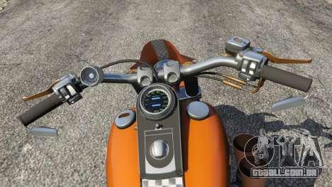 GTA 5 Harley-Davidson Fat Boy Lo Racing Bobber v1.2 traseira direita vista lateral