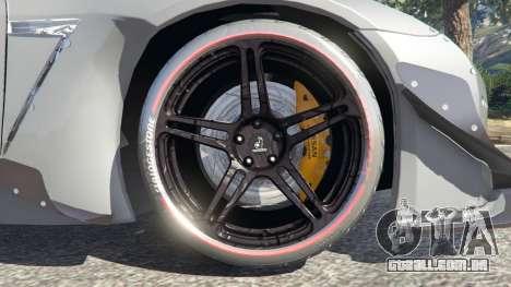 GTA 5 Nissan GT-R (R35) [RocketBunny] traseira direita vista lateral