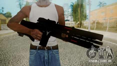 VXA-RG105 Railgun without Stripes para GTA San Andreas terceira tela