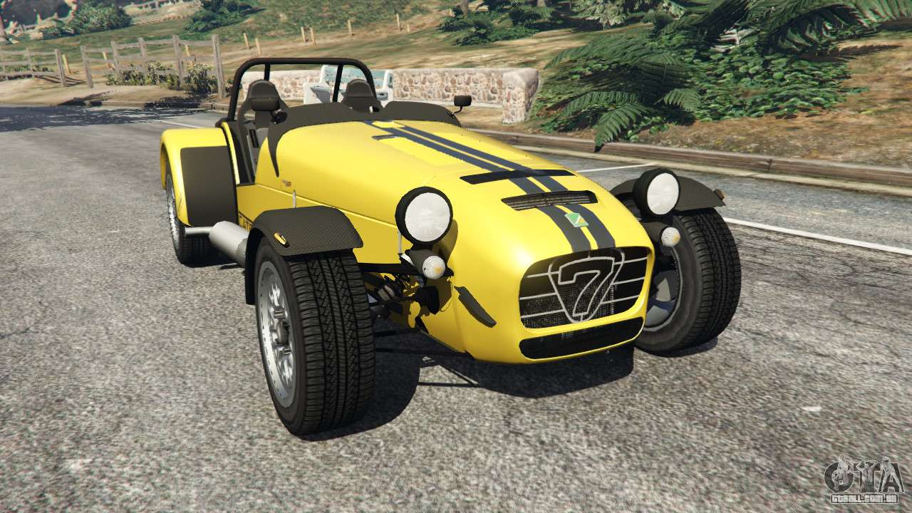 caterham super seven 620r v1 5 yellow para gta 5. Black Bedroom Furniture Sets. Home Design Ideas