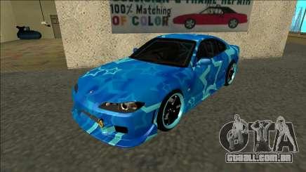 Nissan Silvia S15 Drift Blue Star para GTA San Andreas