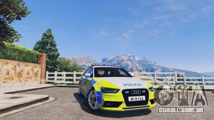 Audi A4 Avant 2013 British Police para GTA 5