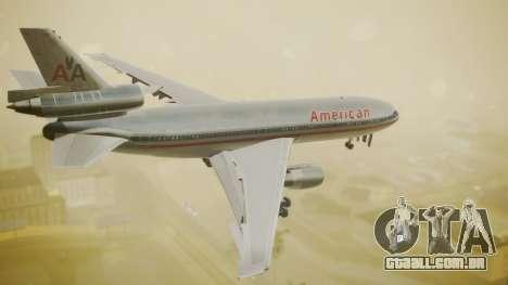 DC-10-10 American Airlines Luxury Liner para GTA San Andreas esquerda vista