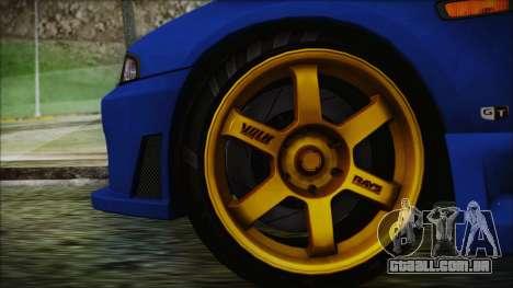 Nissan Skyline R33 Kantai Collection Kongou PJ para GTA San Andreas traseira esquerda vista