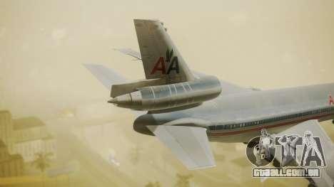 DC-10-10 American Airlines Luxury Liner para GTA San Andreas traseira esquerda vista